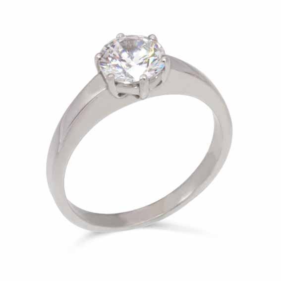ER115 Solitaire diamond in a six claw setting