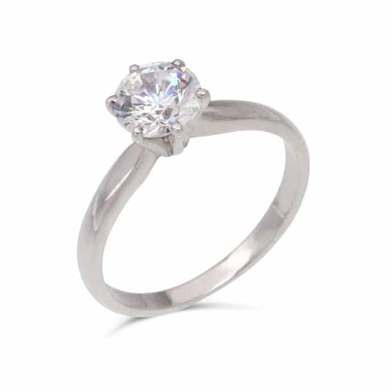 ER113 Solitaire diamond in a six claw setting