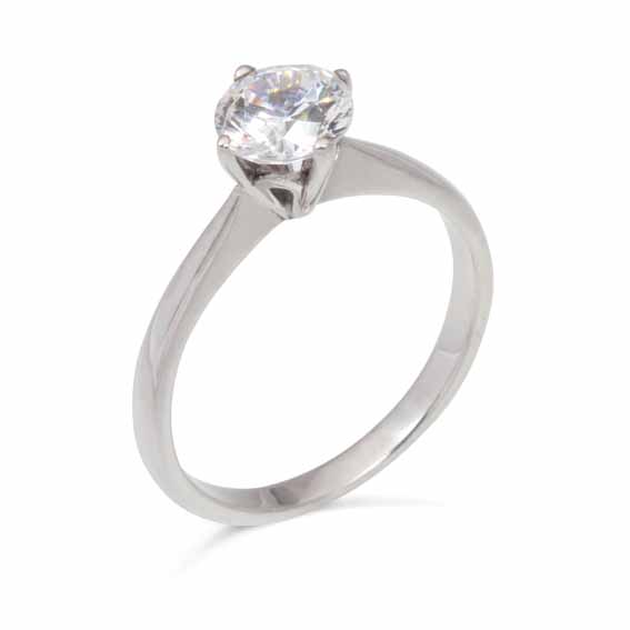 ER112 Solitaire diamond in a four claw setting