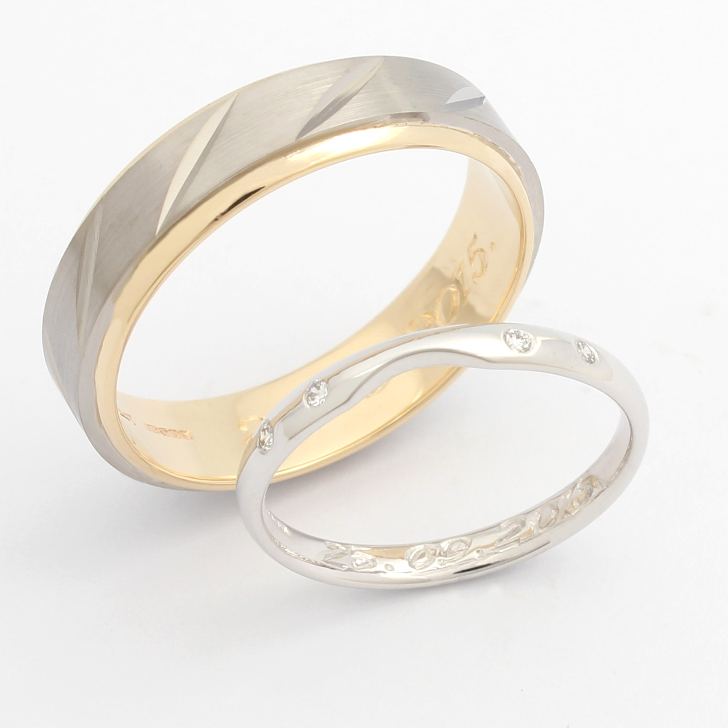 wedding gallery of inspirational new audrey gold s claude ring rings patterned band jewellery la yellow halo