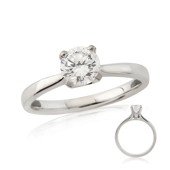 ER139 Four claw solitaire engagement ring