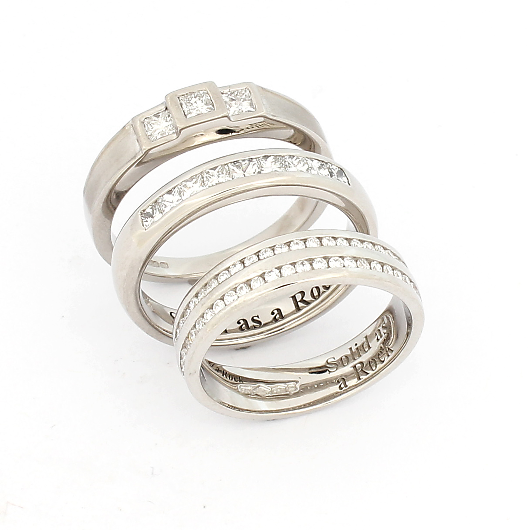 popular diamond fingerprint mens men in wedding rings platinum promise