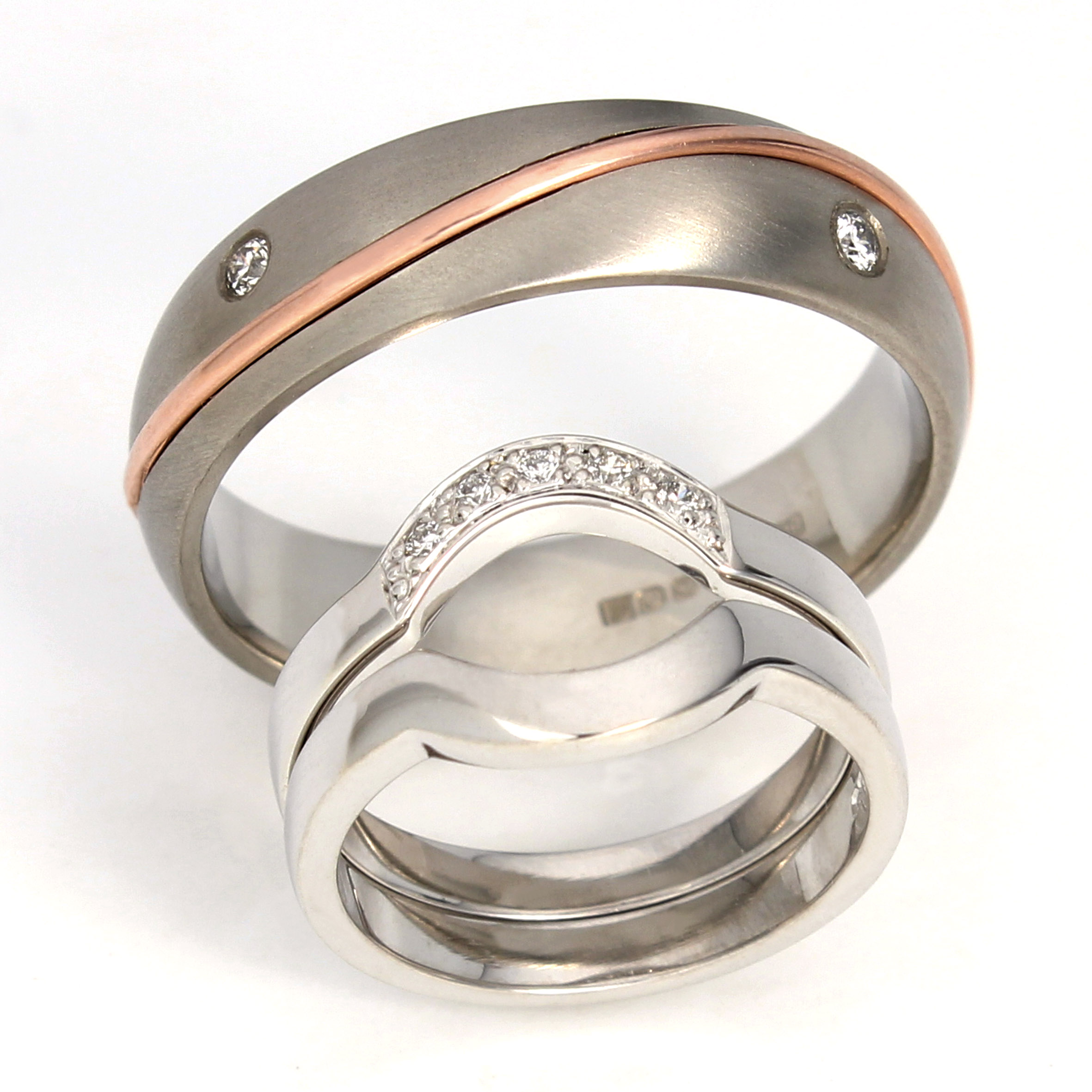 band groom and sets rose gold diamond women bridal him patterned hers thin engagement cut her bride ring princess brushed ideas silver ladies mens nice composition his black wedding the matching bands rings for white