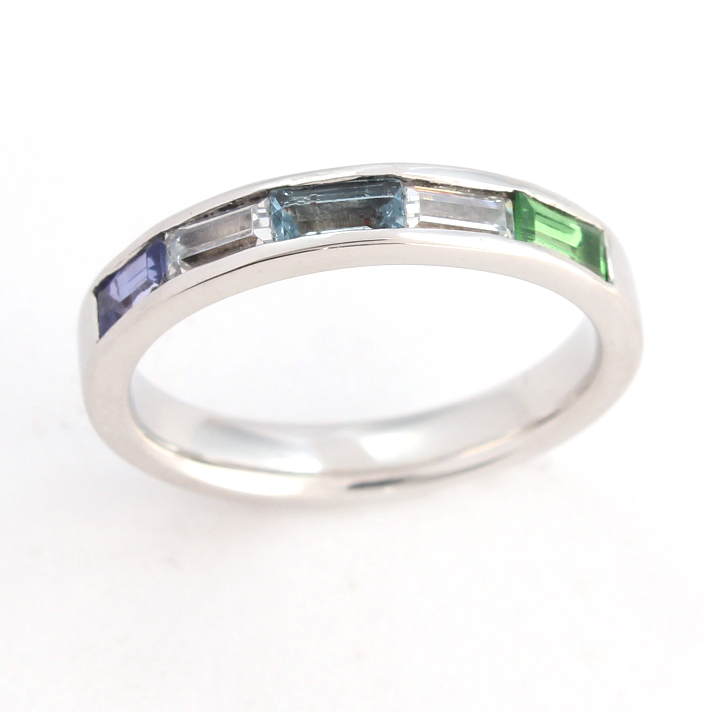 Birthstone wedding ring