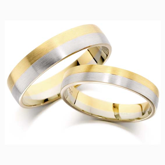 cooljoolz wedding rings liverpool two tone - Two Tone Wedding Rings