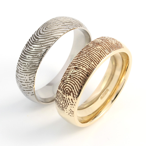 Fingerprint - Your fingerprint on your partner's ring.