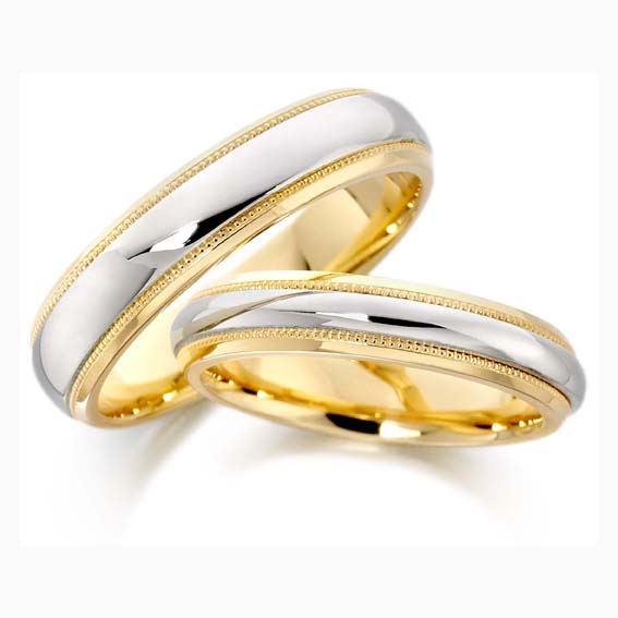 cooljoolz Wedding Rings Liverpool Two Tone Wedding Rings Shaped